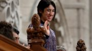 Nadia Murad Basee Taha, United Nations Goodwill Ambassador for the Dignity of Survivors of Human Trafficking, waves while being recognized by the Speaker in the House of Commons on Parliament Hill in Ottawa, Canada, October 25, 2016. REUTERS/Chris Wattie - RTX2QF62